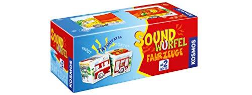 KOSMOS 697372 - Soundwürfel Fahrzeuge, Lernspielzeug mit Geräuschen, für Kinder ab 2 Jahre, Spielzeug für...
