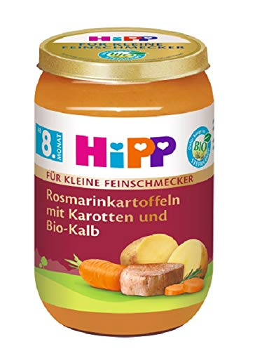 Hipp Für kleine Feinschmecker Menüs, Rosmarinkartoffeln mit Bio-Kalb, 6er Pack (6 x 220 g)