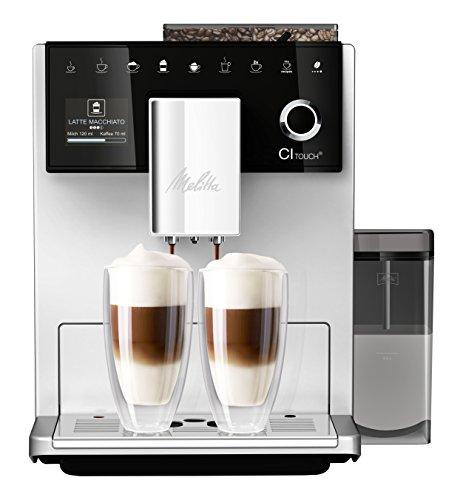 Melitta CI Touch F630-101 Kaffeevollautomat mit Milchbehälter | Flüsterleises Mahlwerk | One Touch Funktion...