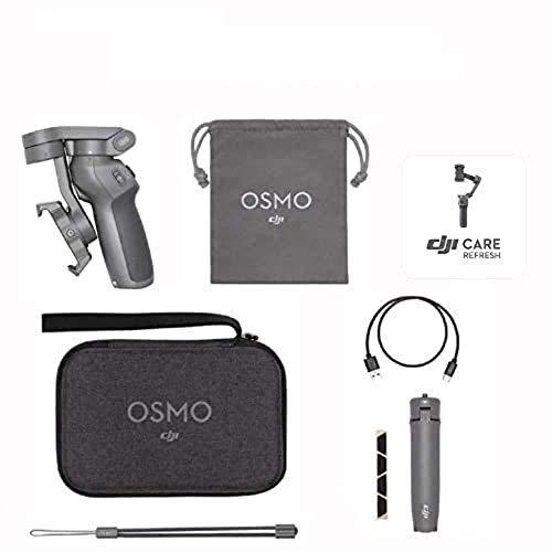 DJI Osmo Mobile 3 Prime Combo - 3-Achsen-Smartphonestabilisator mit Zubehörkit inkl. Care Refresh, kompatibel...