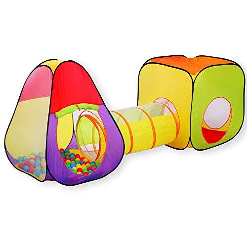 KIDIZ® Spielzelt Spielhaus Babyzelt | 200 Bälle | Bällebad | Kinderzelt | Ideal für Zuhause & im Garten |...