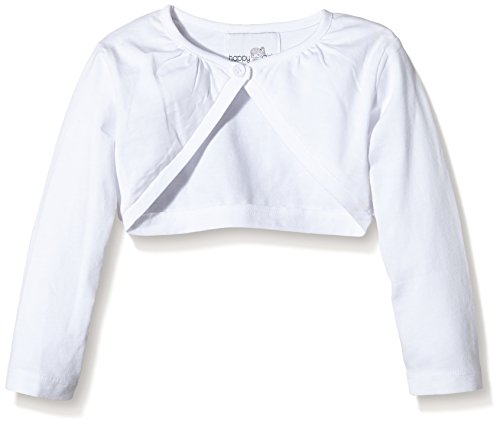 Happy Girls Mädchen Jersey Bolero mit Raffung am Halsausschnitt Einfarbig, Weiß (weiß 10), Gr. 98...