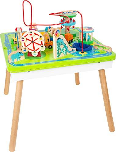 Small Foot 11434 Spieltisch Freizeitpark 3 in 1, Spiel-und Motorikspaß aus Holz, multifunktional, ab 1 Jahr...