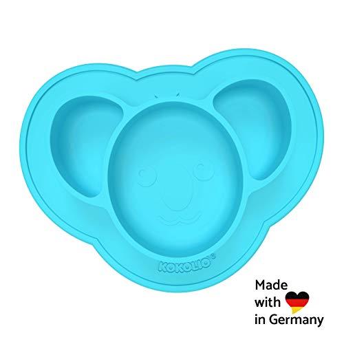 KOKOLIO® Kinderteller & Babyschüssel (Haftend & Rutschfest) MADE IN GERMANY, Saugnapf Für Ein Kleckerfreies...