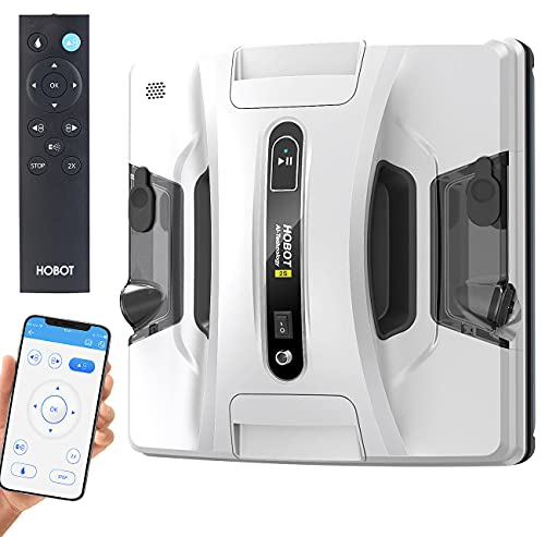 Sichler Exclusive Fensterroboter: HOBOT-2S Profi-Fensterputz-Roboter, Dual-Sprüher, Sprachausgabe, App...