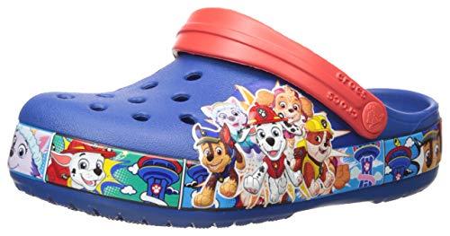 Crocs Unisex-Kinder Fun Lab Paw Patrol Band Clogs, Blau (Blue Jean 4Gx), 27/28 EU