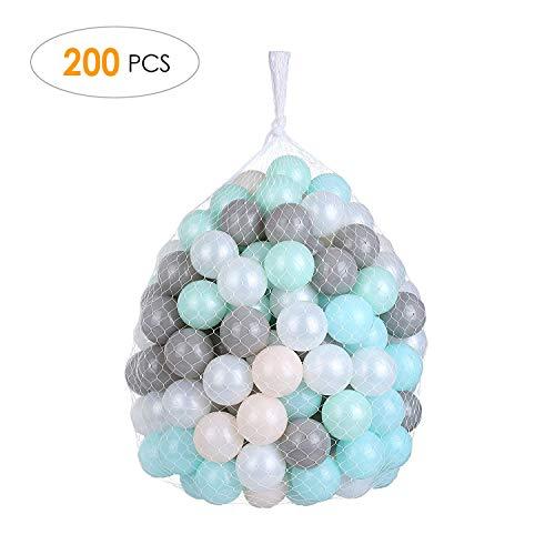 pedy 200 Bunte Bälle Bällebad, Babybälle für Spielbad, Ø6cm Spielbälle Plastikbälle für Kinder, Babys,...