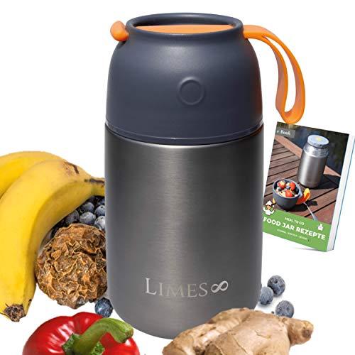Limes 8® Thermobehälter 500/700ml Edelstahl Isolierbehälter, auslaufsicherer Speisebehälter Essen, Thermo...