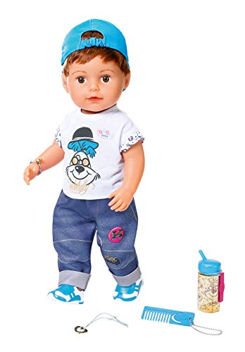 Zapf Creation 826911 BABY born Soft Touch Brother Puppe mit lebensechten Funktionen und Zubehör, bewegliche...