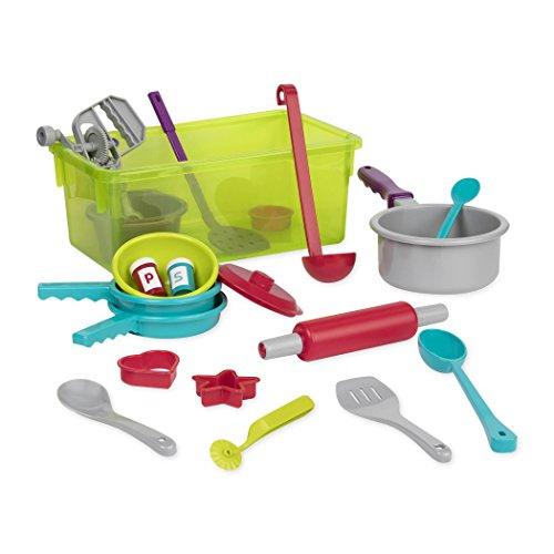Battat – Kochset mit Geschirr Spielset – Großes Küchen Spielzeug Set für Kinder ab 3 Jahren (21 Teile)