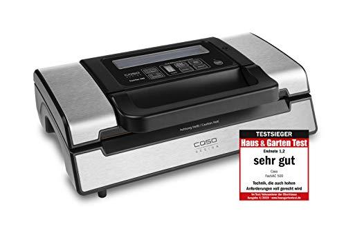 CASO FastVac 500 Gewerbevakuumierer - Edelstahl Vakuumierer für den professionellen Gebrauch - doppelte...