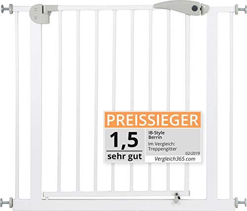 ib style® Treppengitter 67-185cm | Türschutzgitter | Haustiergitter | Ohne Bohren | Auto-Close| 90° Stop |...