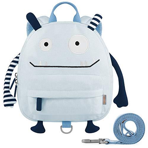GAGAKU Kinderrucksack mit Brustgurt Mini Cartoon Kinder Rucksack für Jungen 1-4 Jährige - Blau