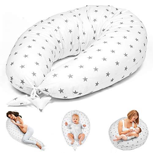 Stillkissen Schwangerschaftskissen zum Schlafen Seitenschläferkissen - Lagerungskissen für Baby XXL...