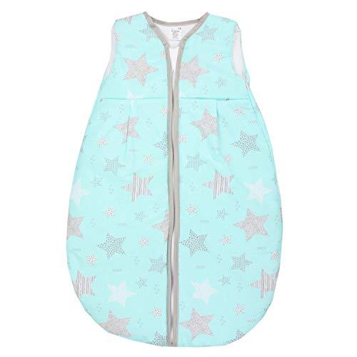 TupTam Baby Ganzjahres Schlafsack ohne Ärmel Wattiert, Farbe: Wald/Beige, Größe: 104-110