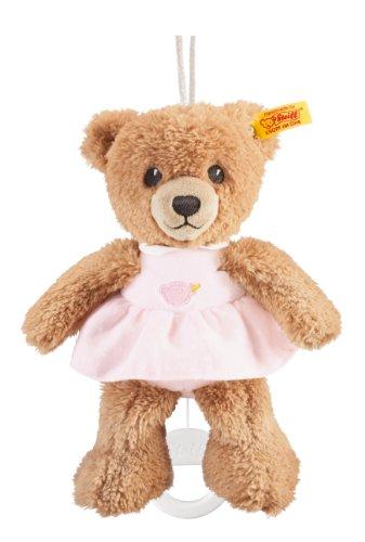 Steiff Schlaf-gut Bär Spieluhr - 20 cm - Teddybär mit Kleid - Kuscheltier für Babys - weich & waschbar -...