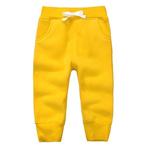 Casa Unisex Hosen Baby Lange Hosen Kinder Baumwolle Fleece Elastische Taille Sweatpants Baby Winter Hosen -...