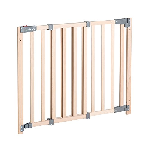 roba Türschutzgitter Safety Up, barrierefreies Holz-Schutzgitter mit Ampelfunktion für Tür und Treppe,...