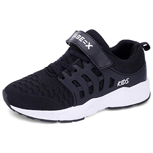 Unpowlink Kinder Schuhe Sportschuhe Ultraleicht Atmungsaktiv Turnschuhe Klettverschluss Low-Top Sneakers...
