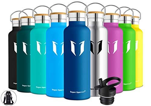 Super Sparrow Trinkflasche Edelstahl Wasserflasche - 500ml - Isolier Flasche mit Perfekte Thermosflasche für...