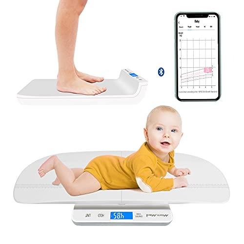 MOMMED Bluetooth Digitale Babywaage, Kleinkindwaage, Multifunktions-Waage für Haustiere und Kleinkinder in...