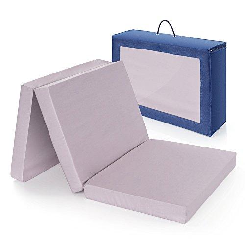 Alvi Reisebettmatratze Komfort 60x120 cm/Höhe 6 cm - Matratze für Baby Reisebett mit Baumwollbezug und...