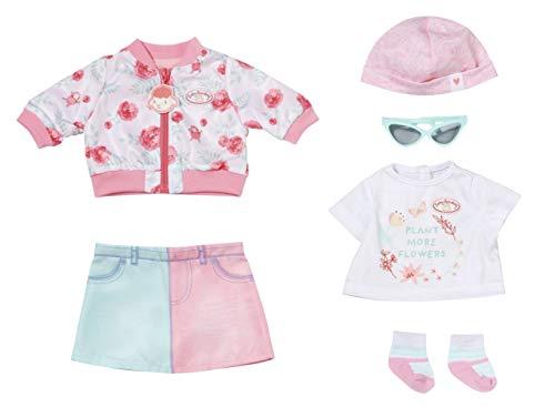 Zapf Creation 705957 Baby Annabell Deluxe Frühling 43 cm - Puppenkleidung Set bestehend aus rosa Puppenjacke,...