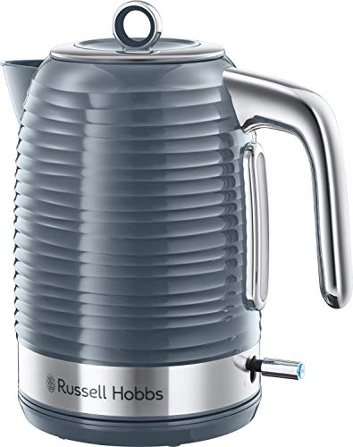 Russell Hobbs Wasserkocher Inspire grau, 1,7l, 2400W, Schnellkochfunktion, optimierte Ausgusstülle,...
