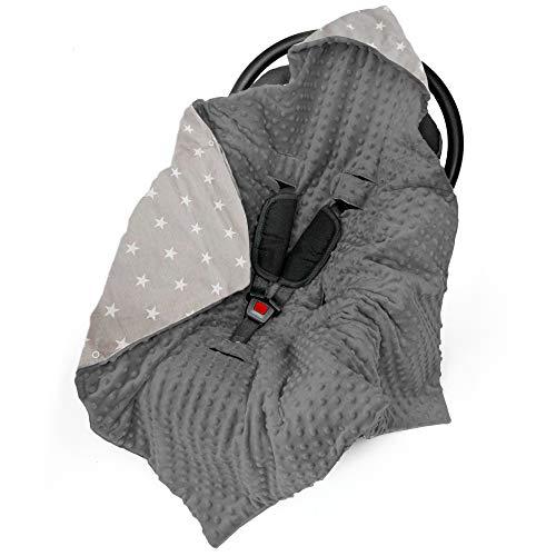 Einschlagdecke Babyschale Decke Kinderwagen 90x90cm - universal Baby Babydecke z. B. für Maxi Cosi Buggy...