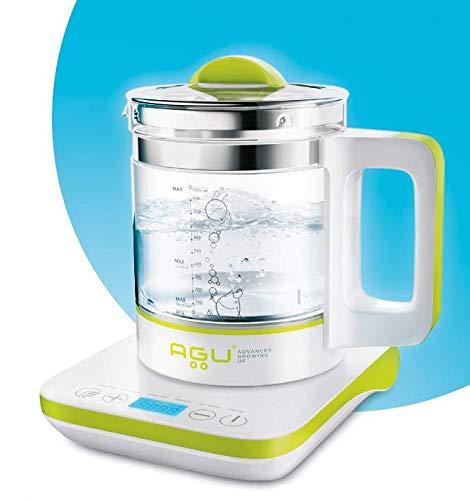 AGU BUBBLY Digitaler Multifunktions (6 IN 1) Wasserkocher Babyflaschenwärmer - Dampfgarer Babynahrung...