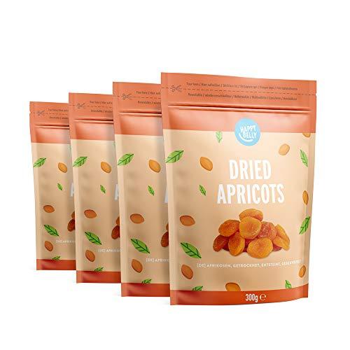 Amazon-Marke: Happy Belly Getrocknete Aprikosen, 300gr x 4