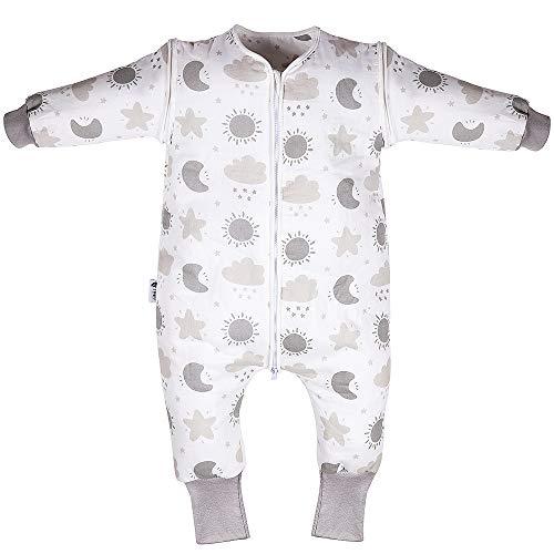 Lictin Schlafsack mit Füße Schlafsack Baby Babyschlafsäcke mit abnehmbaren Ärmeln für Säugling Kinder...