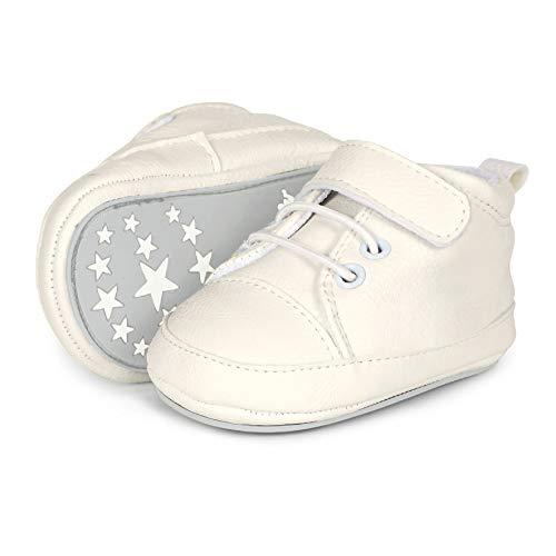 Sterntaler Unisex Baby-Krabbelschuhe mit Klettverschluss, Weiß (weiß 500), Gr. 21/22