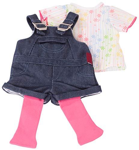 Götz 3402053 Kombination Latzhose Shorty - Jeanslatzhosen-Set Puppenbekleidung Gr. XL - 3-teiliges...