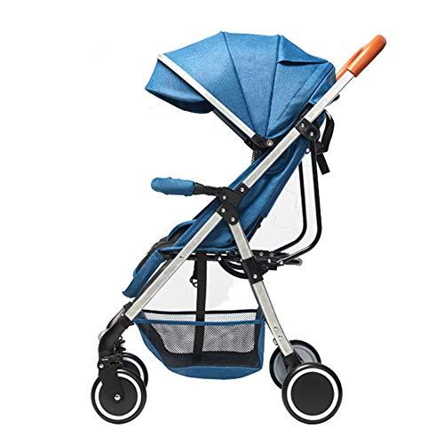 Wp.bewa Leichter Kompakter 4-Rad Kinderwagen,Liegebuggy Für Flugzeug-Babyreisesystem Faltbarer Kinderwagen...
