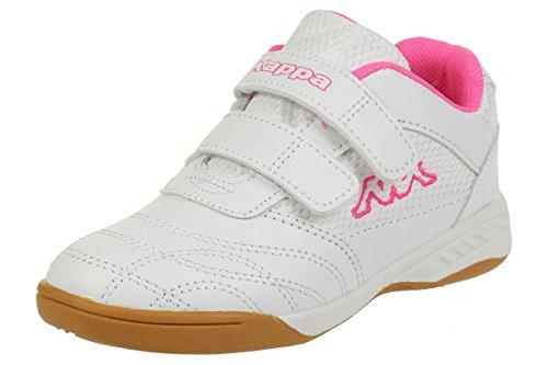 Kappa Mädchen Kickoff Low-Top, 1027 white/l`pink, 32 EU