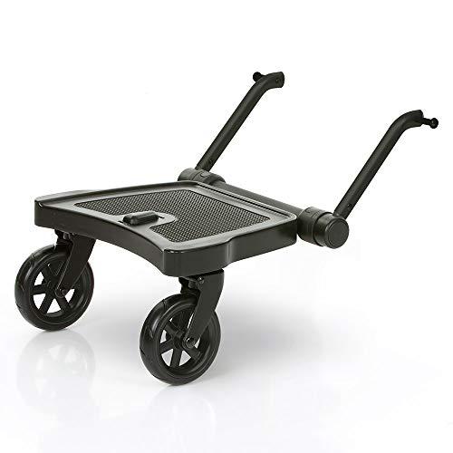 ABC Design Buggyboard Trittbrett Kiddie Ride On 2 - Mitfahrbrett für Kinderwagen und Buggys - Schwarz