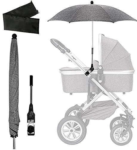 Universal Sonnenschirm Kinderwagen, Sonnenschirm Sonnenschutz für Kinderwagen, UV Schutz 50+, Kinderwagen...