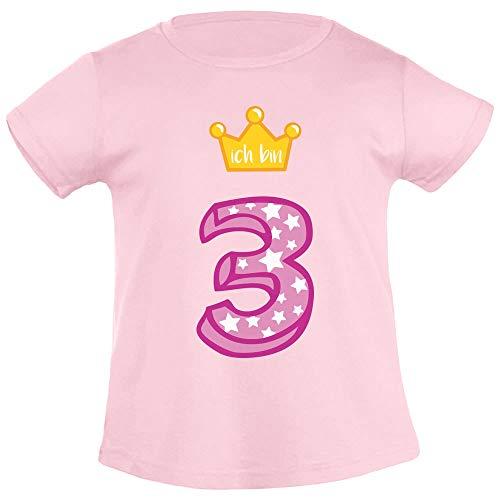 Ich Bin Drie gouden kroon 3 Verjaardag meisjes T-Shirt