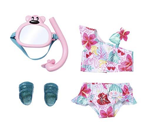 Zapf Creation 829240 BABY born Holiday Deluxe Bikini Set Puppenkleidung 43 cm, rosa/bunt