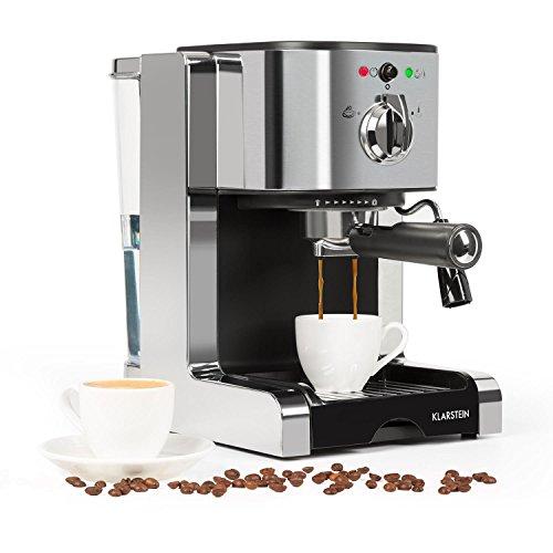 Klarstein Passionata 15 Espressomaschine Espresso-Automat Kaffee-Maschine 1470 Watt 1,25 Liter automatischer...