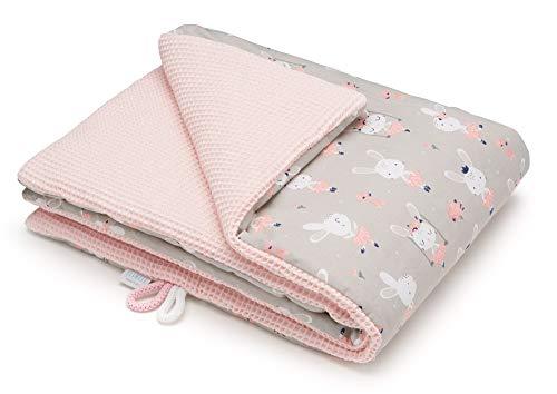 EliMeli BABYDECKE Kuscheldecke 100% Baumwolle - Warme Baby Decke aus Waffelstoff mit Füllung Ideal als...