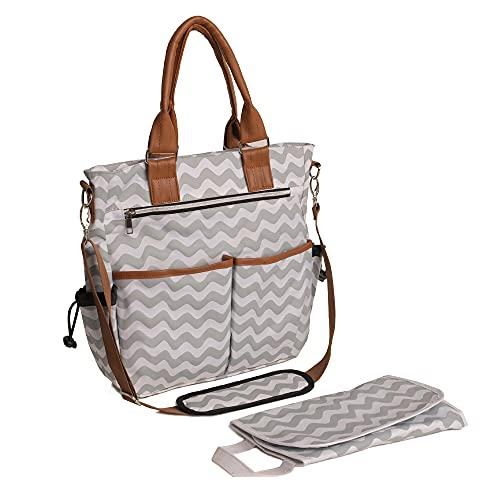 wuuhoo® I Wickeltasche Emily, elegant für unterwegs I lässige und stilvolle Baby-Reisetasche mit...