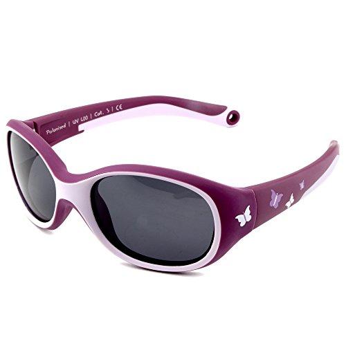 ActiveSol KINDER-Sonnenbrille | MÄDCHEN | 100% UV 400 Schutz | polarisiert | unzerstörbar aus flexiblem...