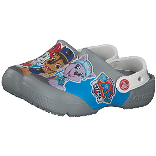 Crocs Unisex-Kinder Fun Lab Paw Patrol CLG K Clogs, Grey, 32/33 EU