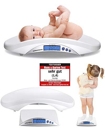 Grundig Babywaage digital Stillwaage Testsieger - Hochpräzise Baby Waage in 5 Gramm Schritten I baby scale...