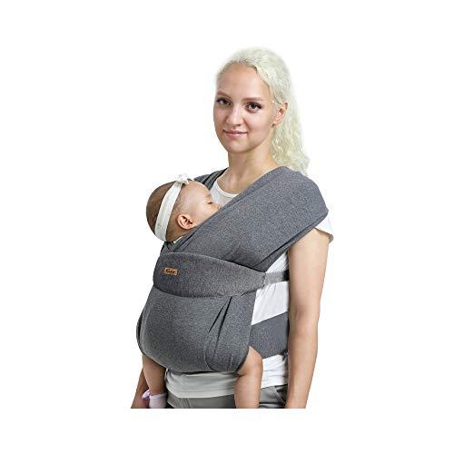 CUBY Verbessert Babytragetuch,Baby Tragetuch Neugeborene,Atmungsaktiv, einfach, hautfreundlich und weich...