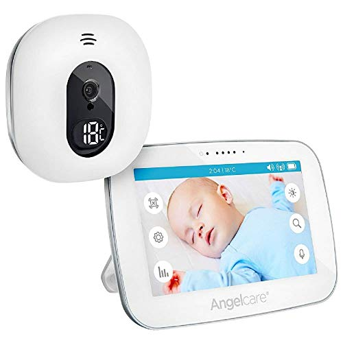 Angelcare A0510-DE0-A1011 Babyphone mit Video-Überwachung AC510-D / 5' Display, weiß