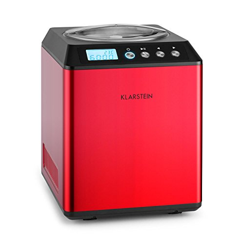 Klarstein Vanilla Sky - Eismaschine, Eisbereiter, Speiseeismaschine, Kühlhaltefunktion, LED-Display, Timer,...