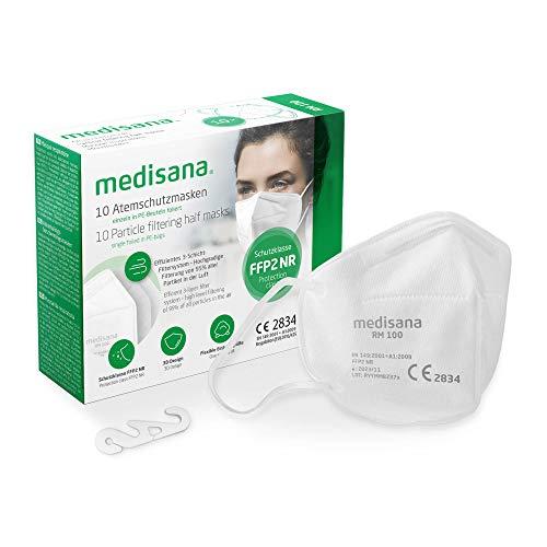 medisana FFP2 Atemschutzmaske Staubmaske Atemmaske, RM 100, Staubschutzmaske Mundschutzmaske 10 Stück...